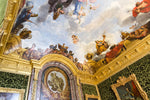 Load image into Gallery viewer, The ornate ceiling of a room at the Palace of Versailles.