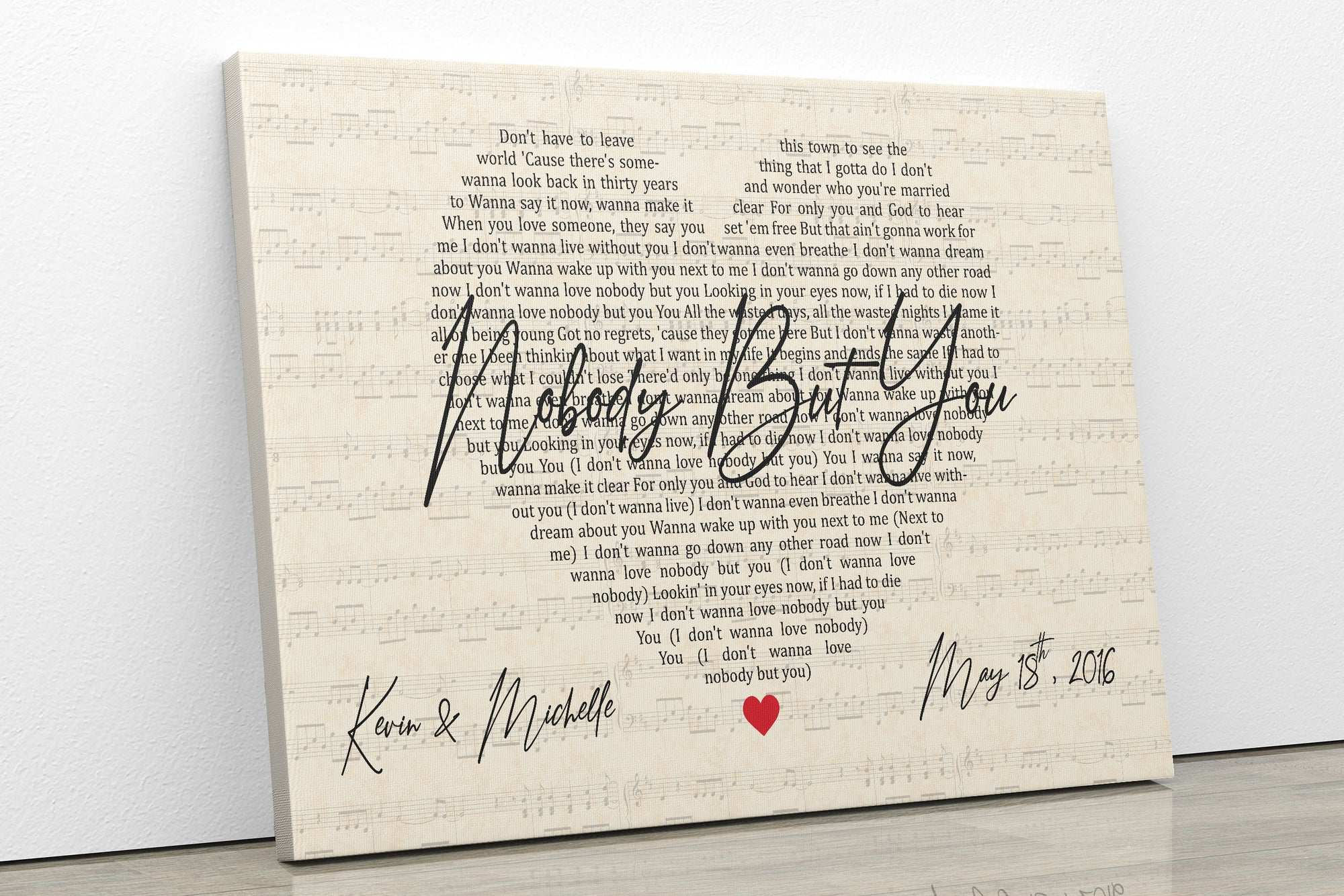 Nobody But You Wedding Song 01 Poster No Framed Framed Canvas Personalized Family Gift When you're not close to my body you're a bittersweet delight come and help me through the night. usd