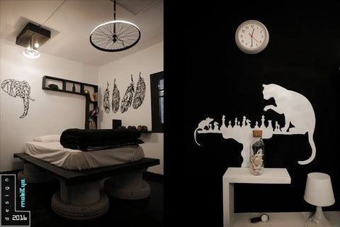 tire bedroom black and white ecofriendly
