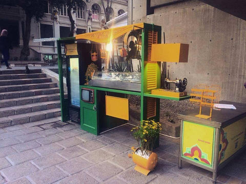 Gedety upcycled shish greek campus downtown cairo ecofriendly