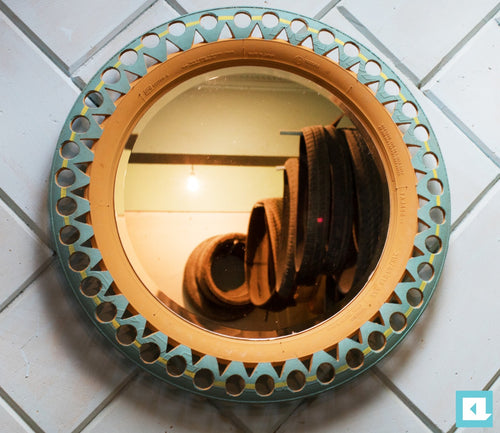 Tire upcycled Mirror