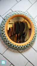 Load image into Gallery viewer, Tire upcycled Mirror