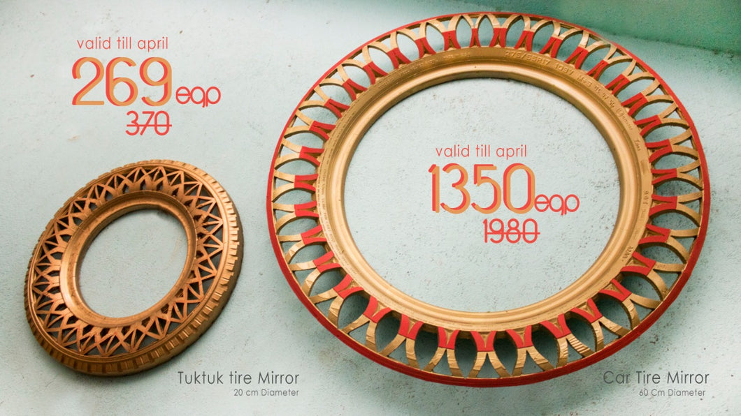 Golden Tire mirror set