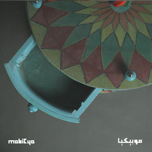 Oriental Sufi Tire table ( Drawer )