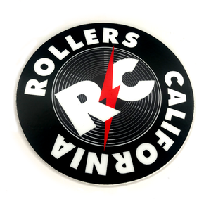 "ROLLERS CALIFORNIA 3"" HUBCAP STICKER"