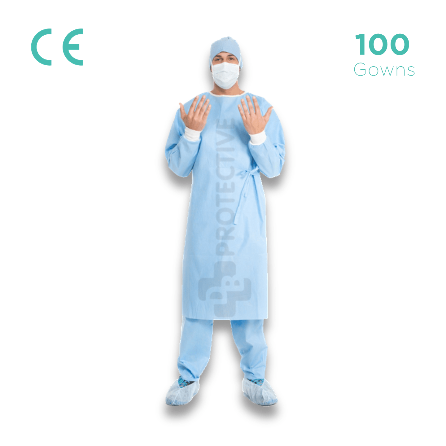 SMS Disposable Gowns AAMI Level 2 - Pack of 100. - USA Medical Supply - DB Protective