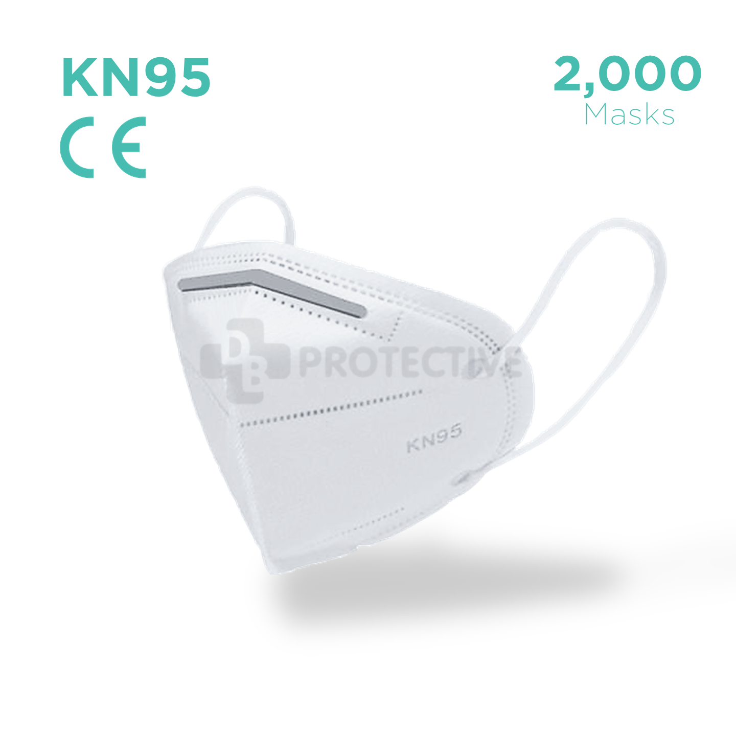 KN95 Face mask - Pack of 2000. - USA Medical Supply - DB Protective