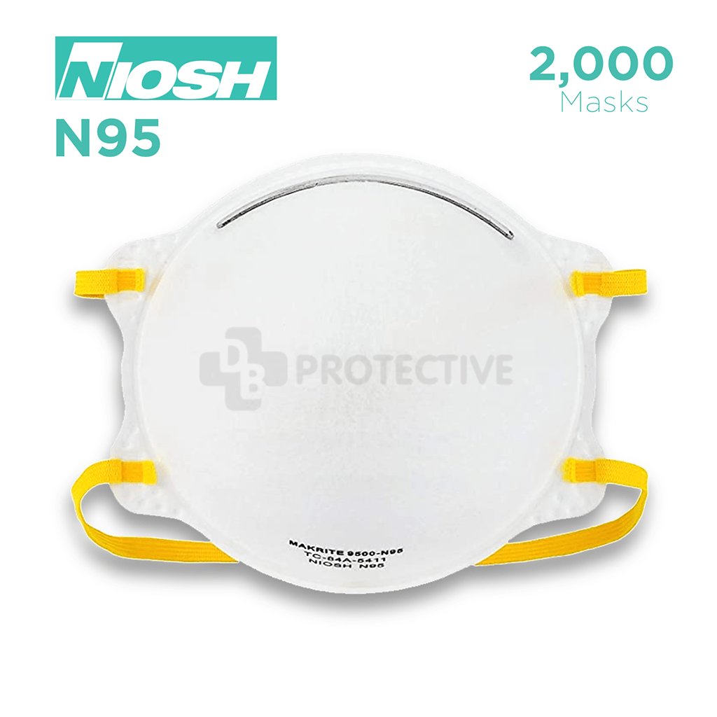 N95 Facemasks NIOSH APPROVED - Pack of 2,000