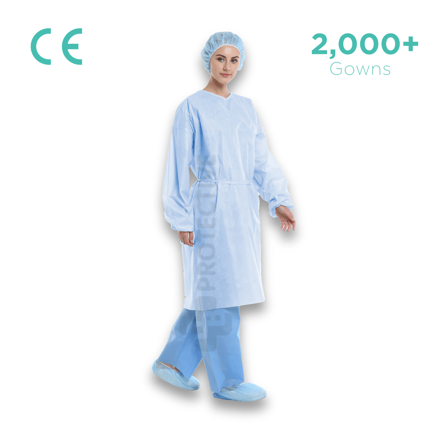 SMS Disposable Gowns AAMI Level 1 - Pack of 2,000. - USA Medical Supply - DB Protective