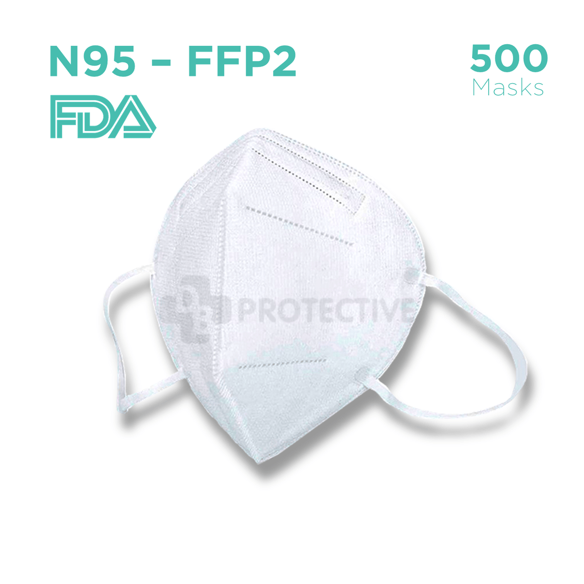N95 FFP2 Medical Protective Face Mask - Pack of 500