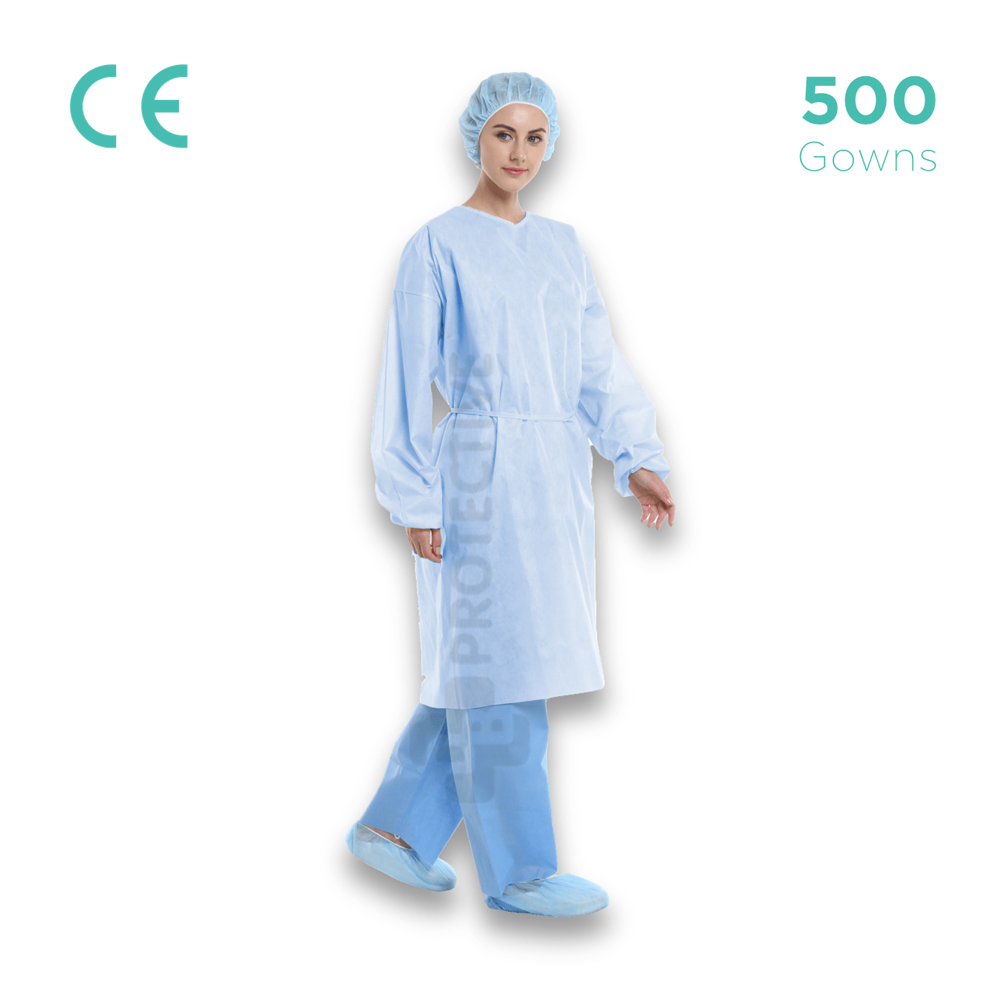 PP Disposable Gowns AAMI Level 1 - Pack of 500. - USA Medical Supply - DB Protective