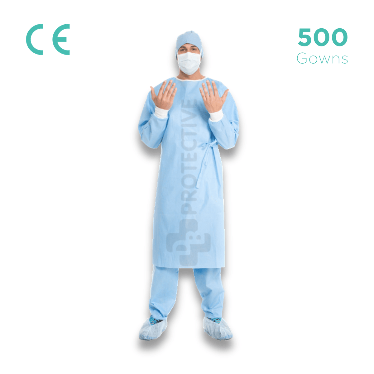 SMS Disposable Gowns AAMI Level 2 - Pack of 500.