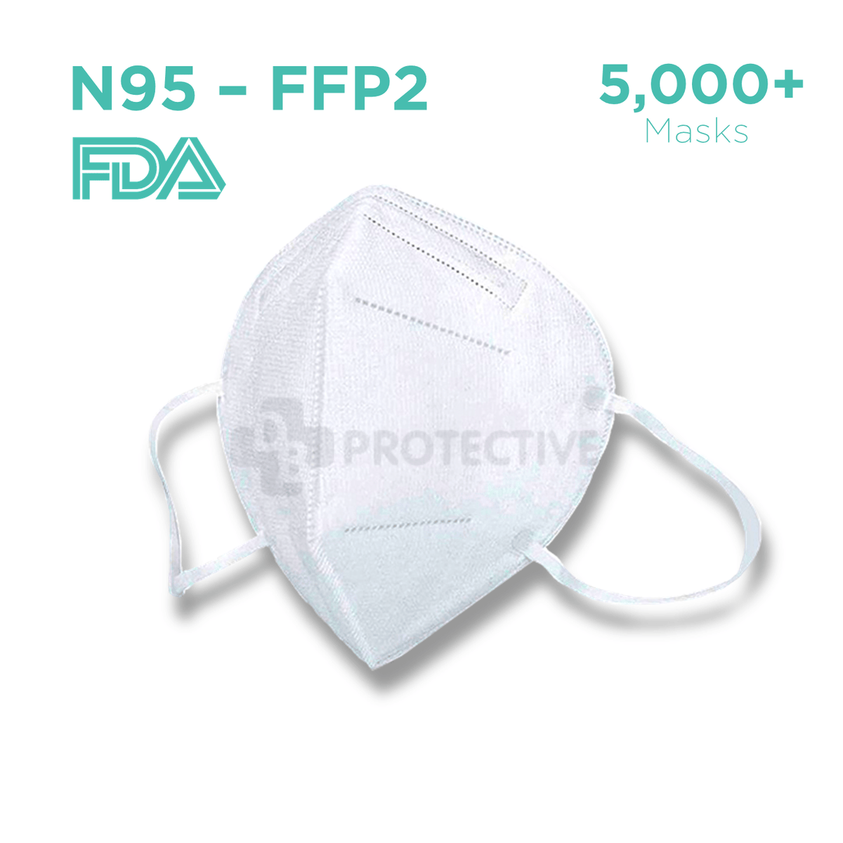 N95 FFP2 Medical Protective Face Mask - Pack of 5,000