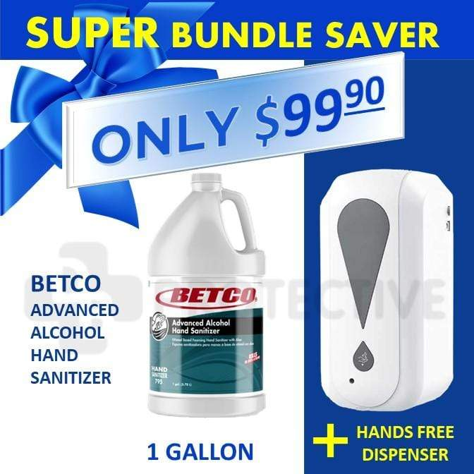Automatic Hand Sanitizer Dispenser + Betco Advanced Alcohol Gel Hand Sanitizer