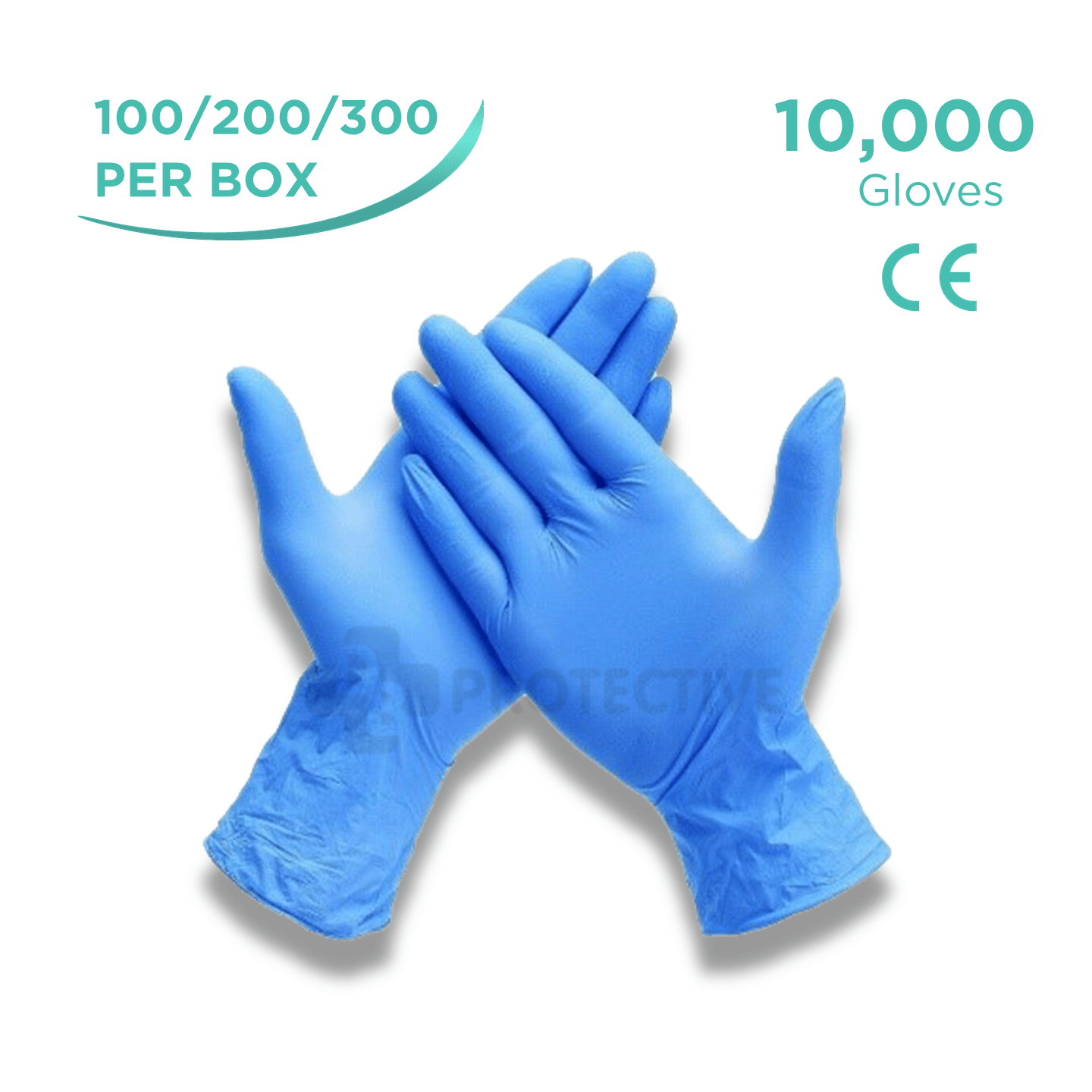 Blue Nitrile Examination Gloves - Pack of 10,000 - USA Medical Supply - DB Protective