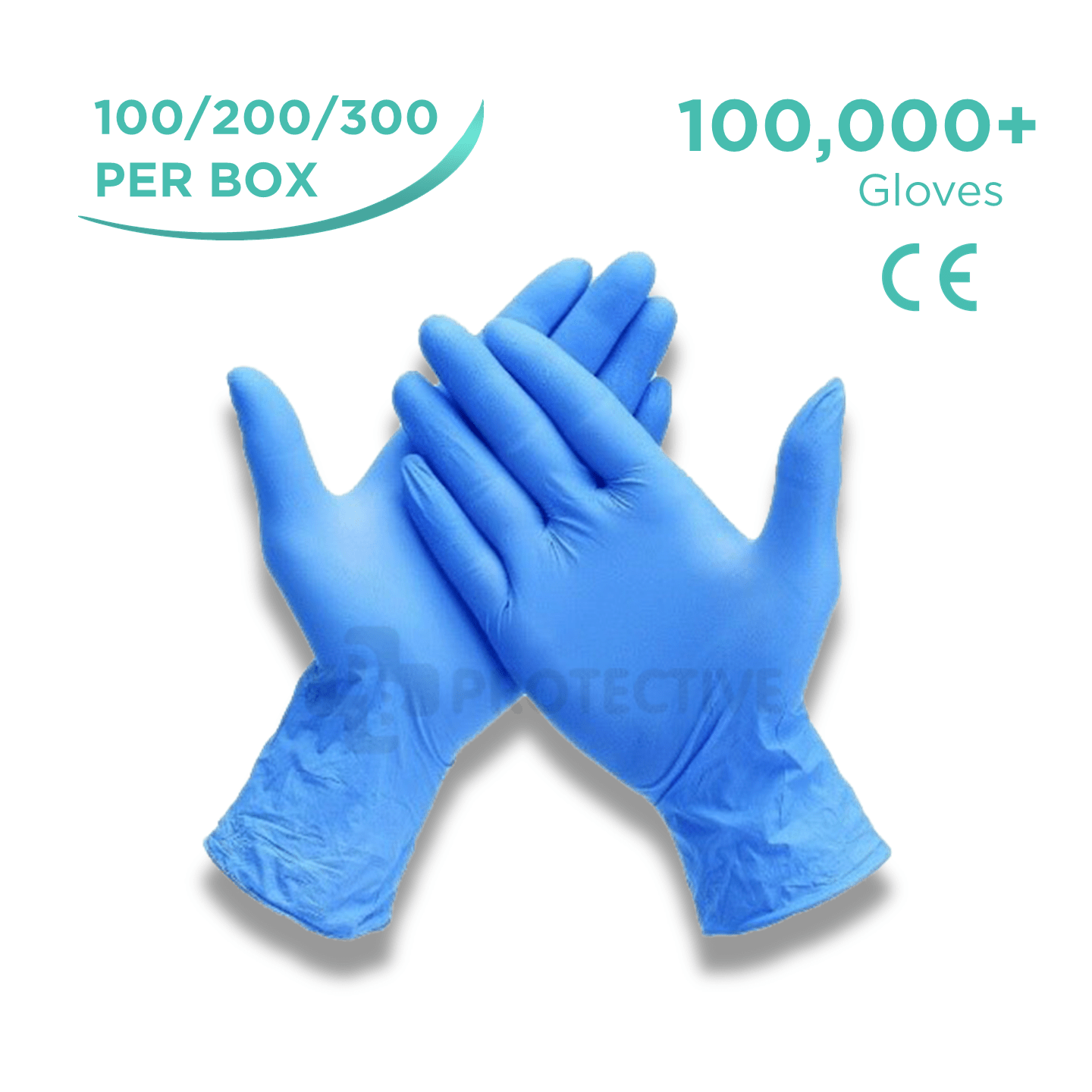 Blue Nitrile Examination Gloves - Pack of 100,000 - USA Medical Supply - DB Protective