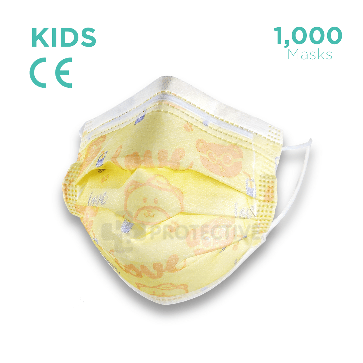 Kids 3 Ply Disposable face Mask - 1,000 Disposable Kids Face Masks