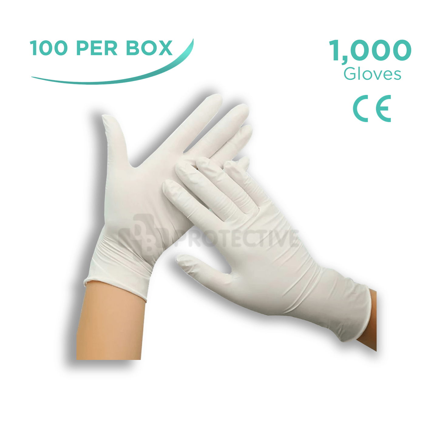 Latex Gloves - Pack of 1,000. - USA Medical Supply - DB Protective