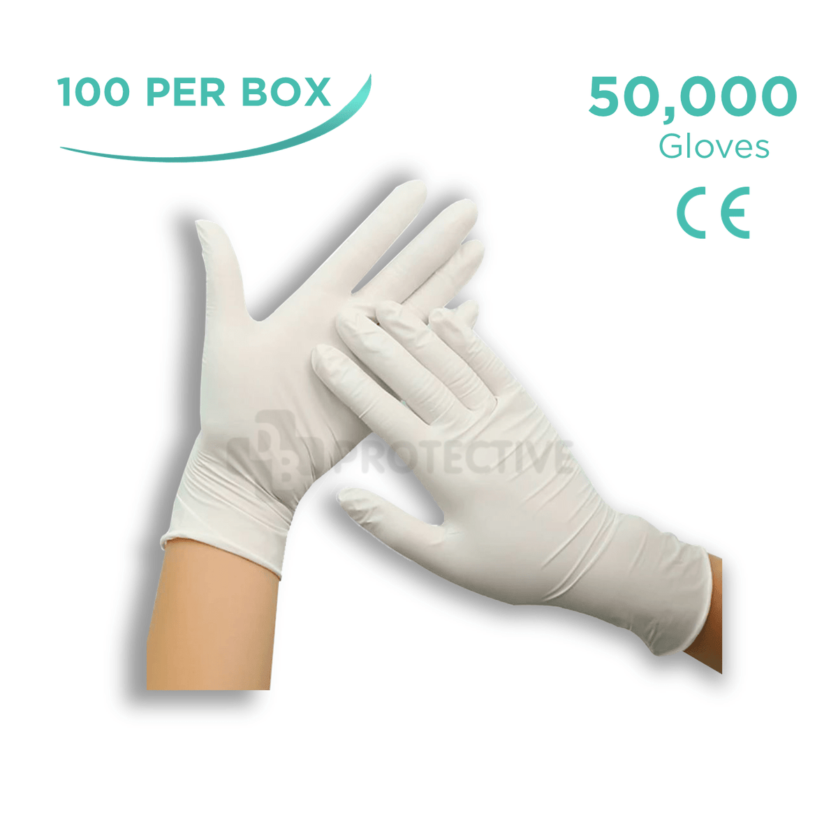Latex Gloves - Pack of 50,000. - USA Medical Supply - DB Protective
