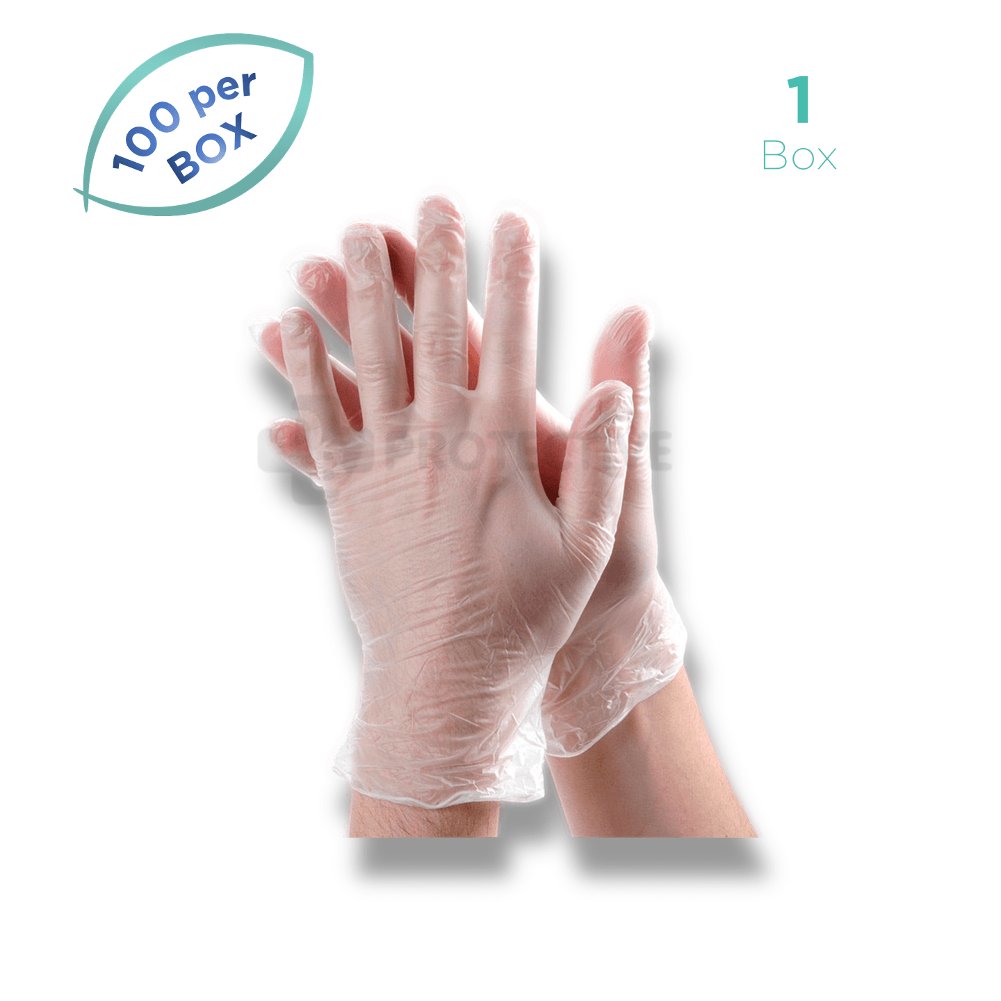 Vinyl Examination Gloves - Pack of 100. - USA Medical Supply - DB Protective