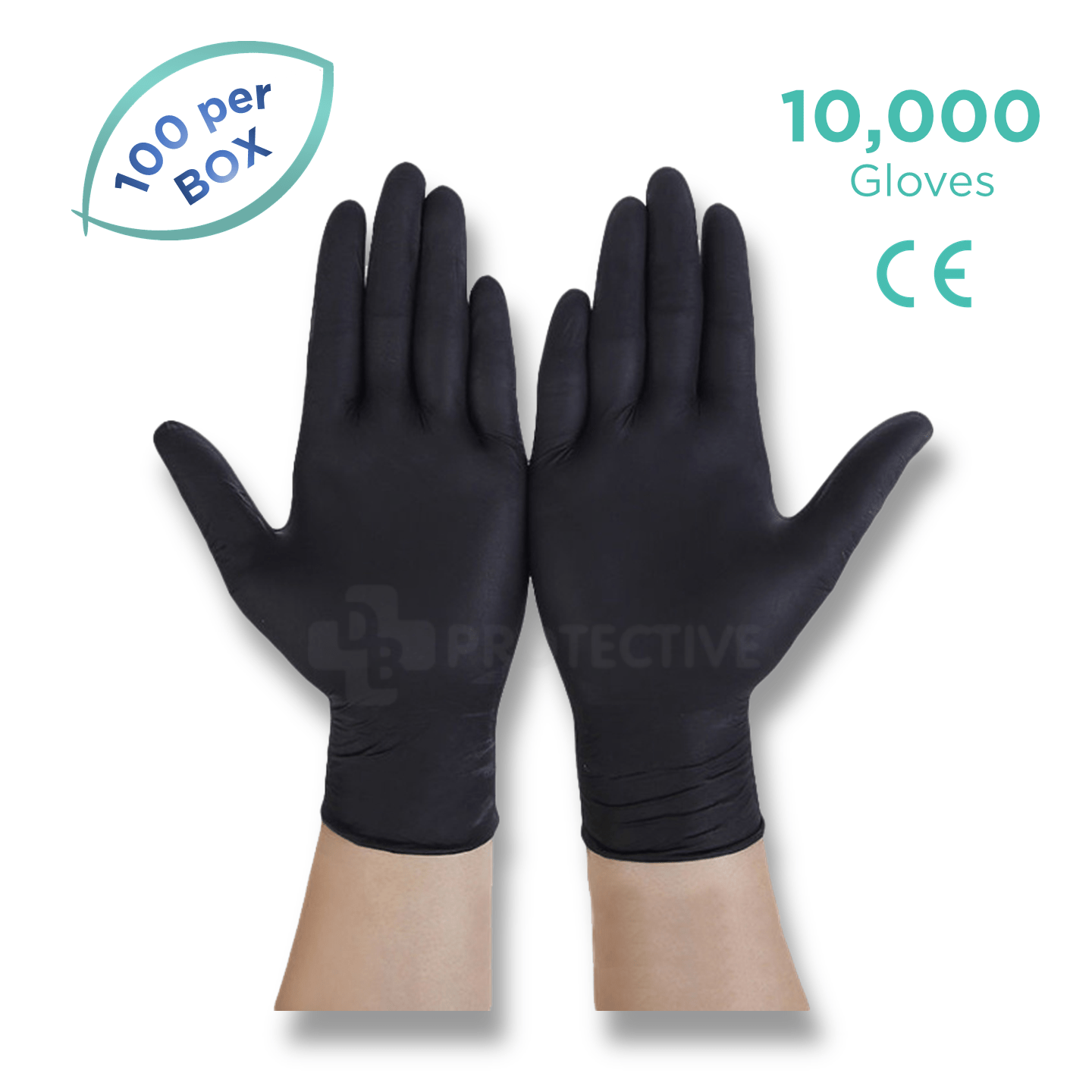 Black Nitrile Gloves - Pack of 10,000 - USA Medical Supply - DB Protective