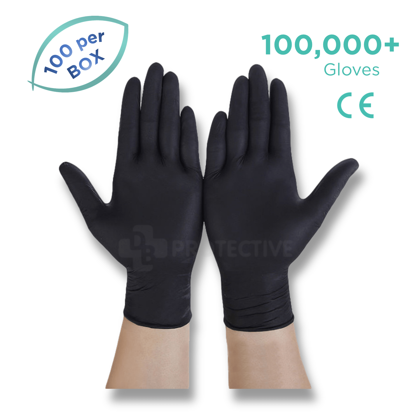 Black Nitrile Gloves - Pack of 100,000 - USA Medical Supply - DB Protective