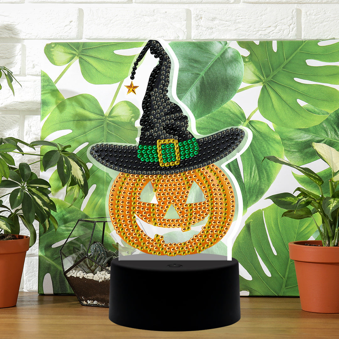 Halloween DP Lamp Pumpkin with Hat