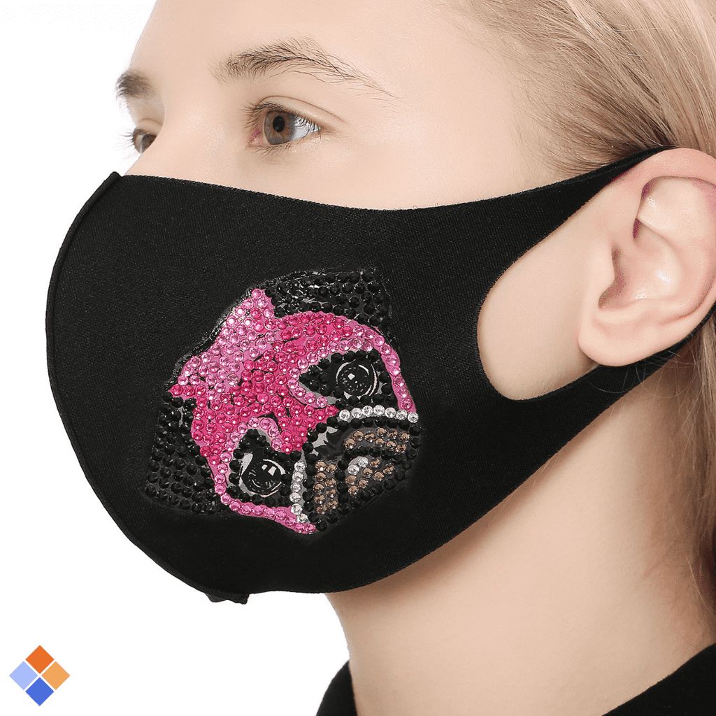Pink Puppy Face Mask