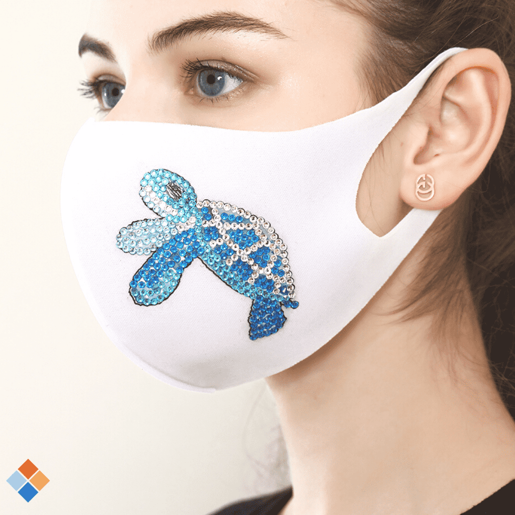 White Turtle Face Mask
