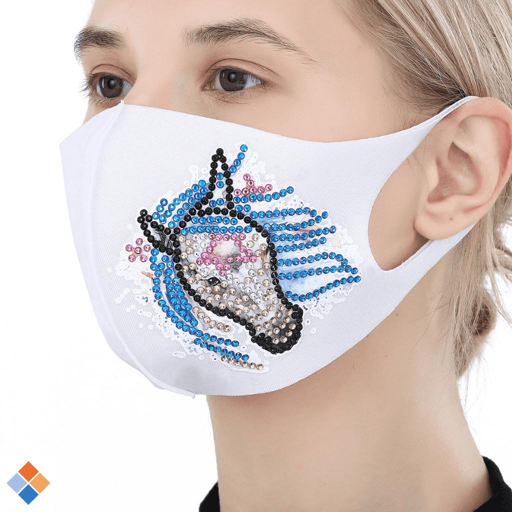 White Horse Face Mask