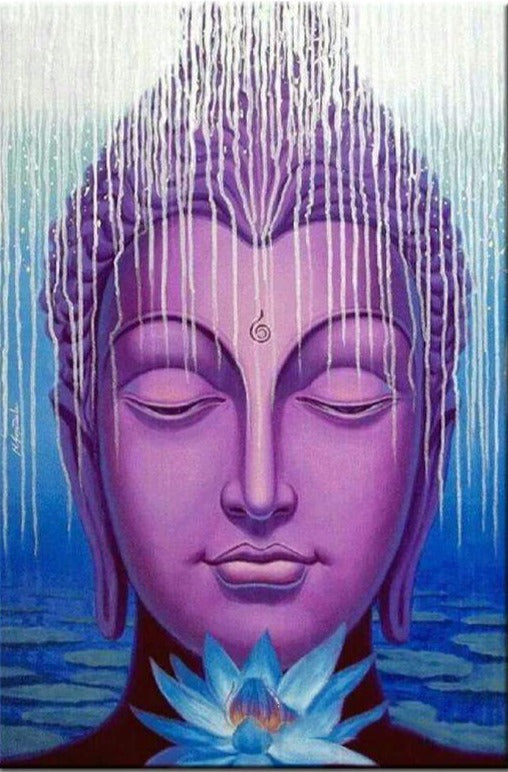 Buddha Face Purple