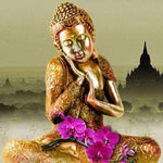 Golden Buddha with Temple