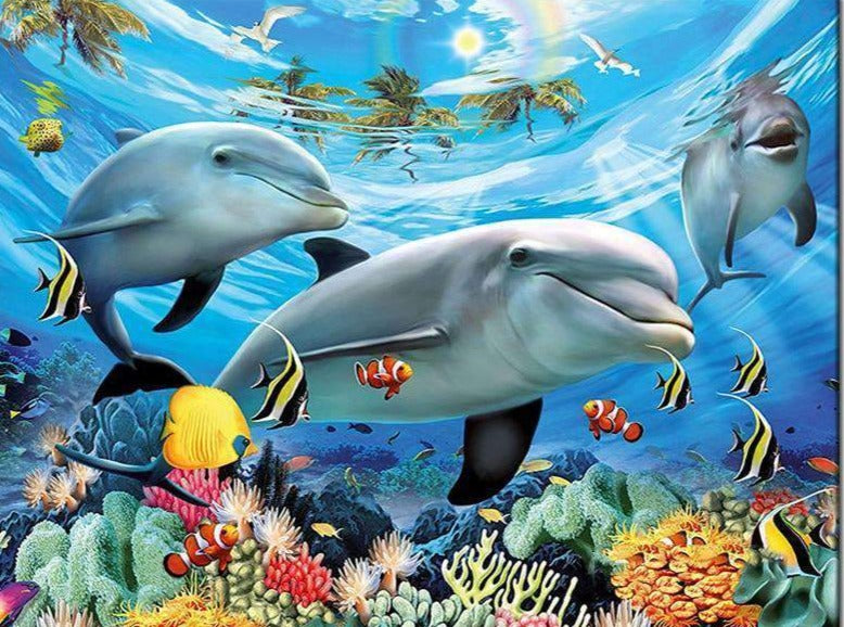 Dolphins with Fish