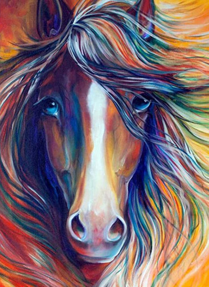 Horse Portrait Colorful