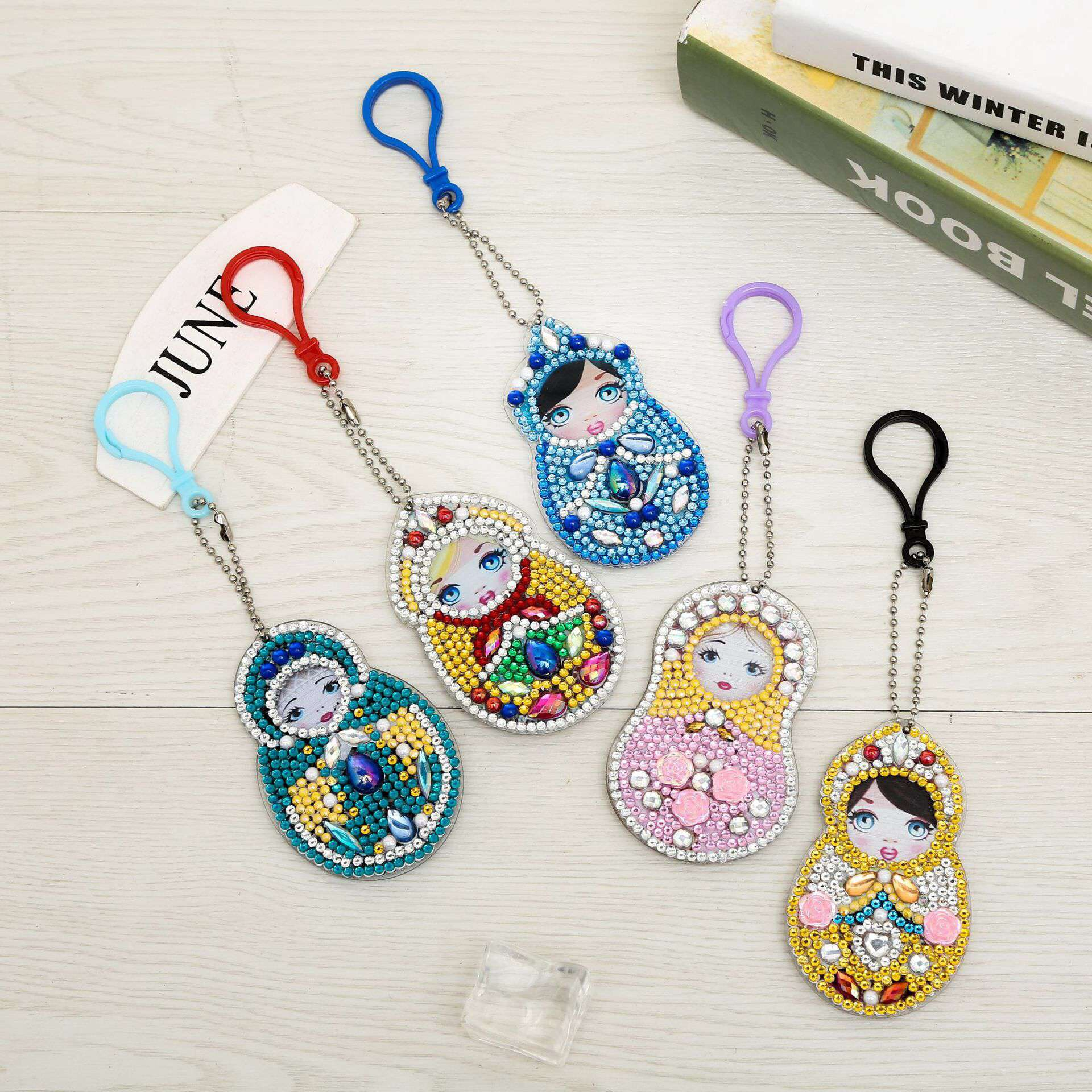 Keychains Russian Matryoshka 5 pieces