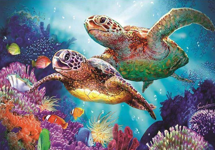 Turtles in the Ocean