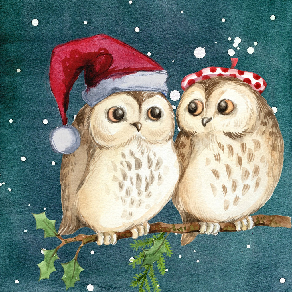 Owl Heads at Christmas