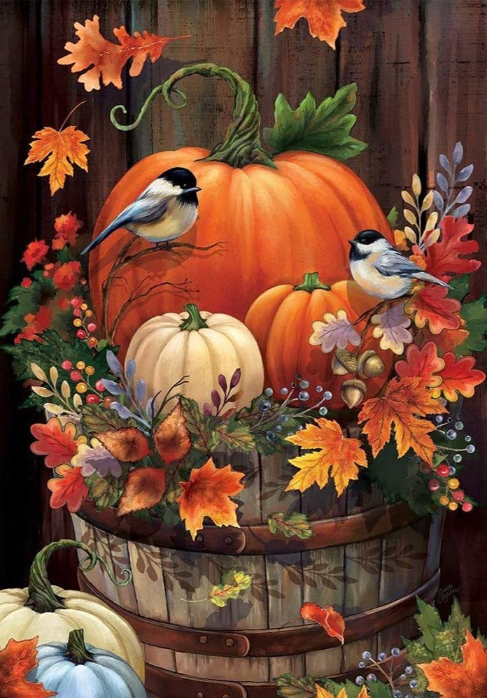 Pumpkins and Birds