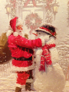 Santa Claus and the Snowman