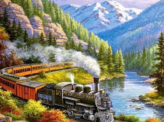 Locomotive in the Mountains