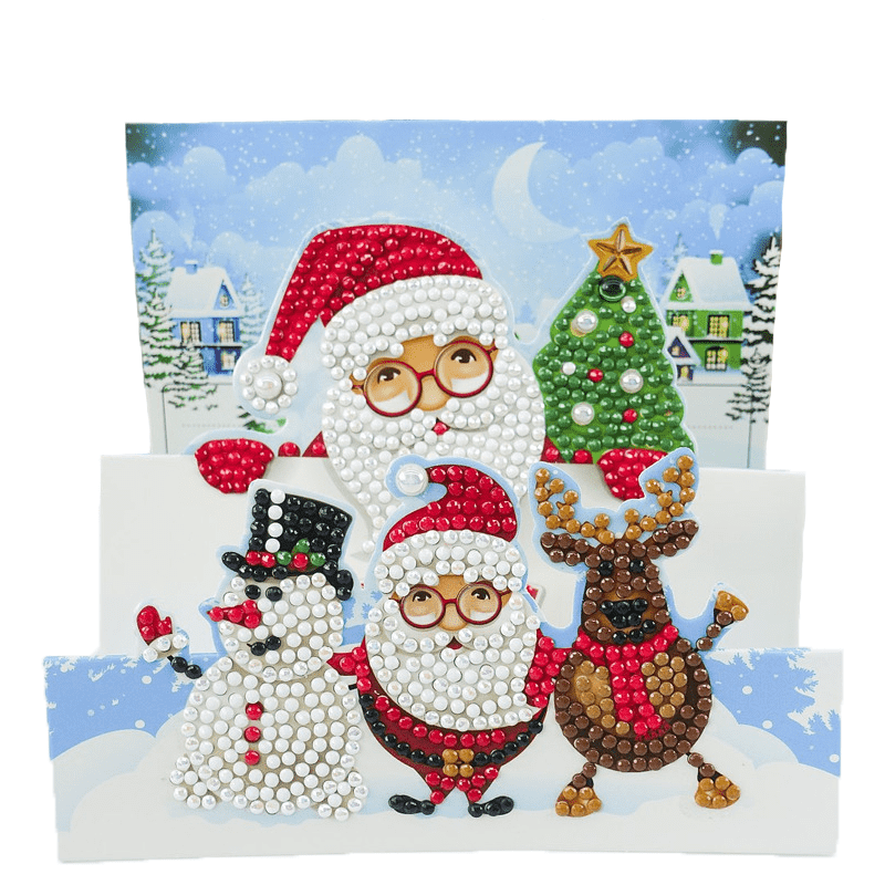 Unfoldable 3D Christmas Card Christmas Family