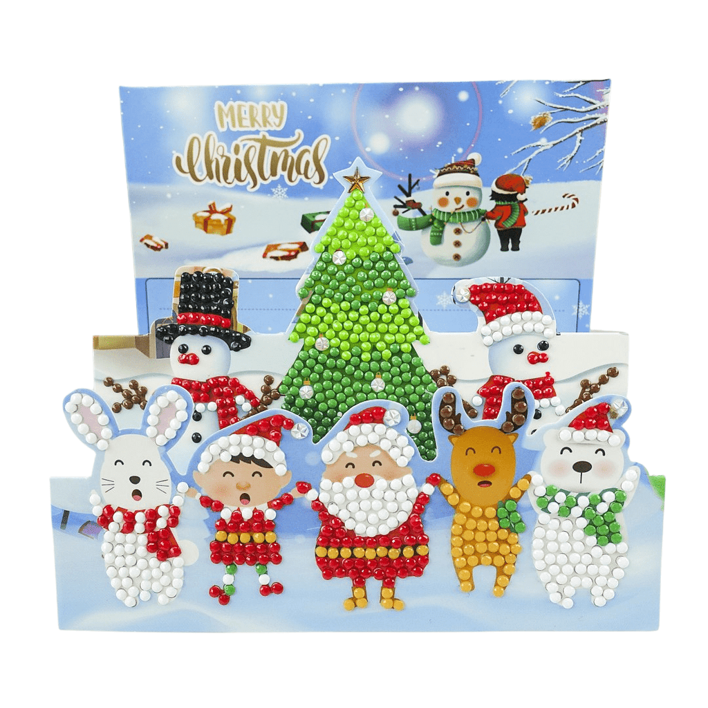 Unfoldable 3D Christmas Card Christmas Party