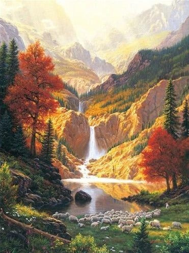 Waterfall Lake Autumn
