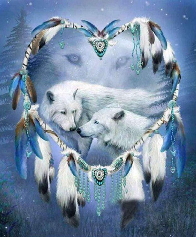 White Wolves Dreamcatcher