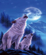 Wolves Full Moon