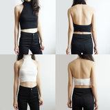 Turtleneck Halter Crop Top (5 Colors)