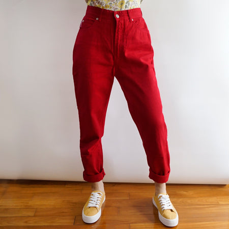 Vintage Bongo Mom Jeans (Cherry Red)