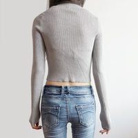 Winter Mock Neck Crop Top (3 Colors)