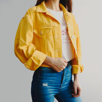 Fruity Cropped Denim Jacket (2 Colors)