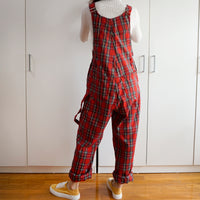 Plaid Overalls (Red/Black)